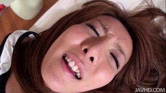 เด็กญี่ปุ่นอย่างน่ารักมาก นมกำลังพอดีหอยสวยน่าเลียเปิดห้องxxxกับแฟนหนุ่มผลัดกันดูดควยเลียหอยเสียวตลอด